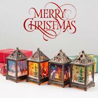 New XMAS  LED Light Up Lantern Xmas Santa Claus Table Lamp Ornament Dec.Home