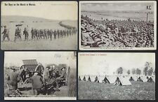 US MILITARY 1911 16 FOUR PHOTO CARDS ON THE MEXICAN BORDER US INFANTRY CAMP OUR