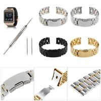 22mm Stainless Steel Strap Watch Band fr LG G Watch R, Urbane, Pebble / Time