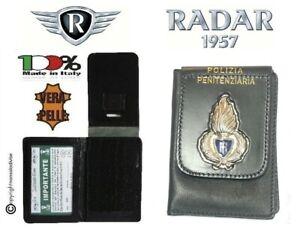 Portafoglio con Placca Portadocumenti Polizia Penitenziaria Radar Ultimo Pezzo