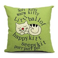 "Cat 18x18"" Size Decorative Cushions & Pillows"