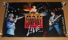 Bad Company The Best of is What You Get Promo 1993 Original Poster 30x20