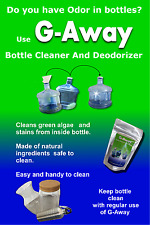 bottle cleaner g-away for cleaning bottles 1/2/3 or 5 gallon water bottles, cups