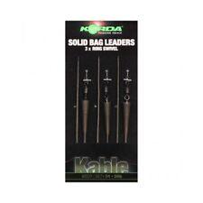 Korda Kable Solid Bag Leadcore Leader x 3 Ring Swivel 30cm 1ft