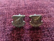 Military Vintage PACAF (Air Force) Silver Cufflinks - pair