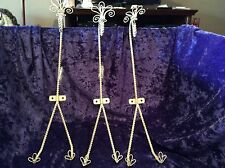 3 Vintage Metal Wall hangers, wire wall racks, wall hooks, plate holders white