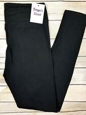 PLUS Size Solid Black Buttery Soft Leggings YOGA waist Curvy 10-18