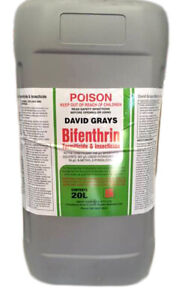 Bifenthrin 20L David Grays Termite Insect Ant Spider Pest Control Spray 100g/L