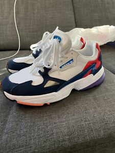 NWT adidas Falcon W Shoes, Red/navy/purple , CG6246, 90s, Size 10