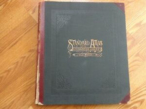 RARE 1911 Ogle Atlas of Livingston County Illinois with Plat Book, Photos & Ads