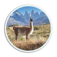 2 x 10cm Llama Alpaca Vinyl Stickers - Machu Picchu Peru Sticker Laptop #8444
