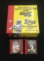 Lot of 2 Topps 2007 Jumbo Cello Football Packs (22 Cards) 🔥6 Rookies Per/Pack🔥