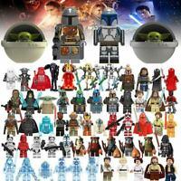 Star Wars 150 + Minifigures Mandalorian Jedi Darth Vader Yoda Obi Clone Boba