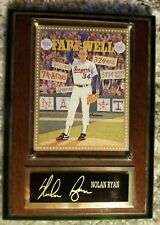 Nolan Ryan Leadership Farewell Plaque 1994