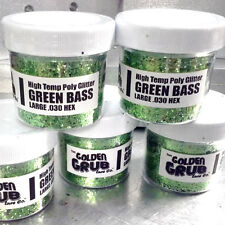 NEW 2 OZ. Jar GREEN BASS High Temp Glitter .030 Fishing Lure Making Soft Plastic