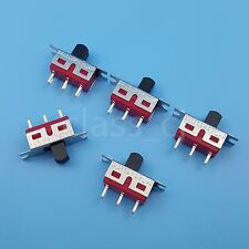 5Pcs SALECOM TS-13 ON-ON Maintained SPDT Slide Switch 3Pin 2Position