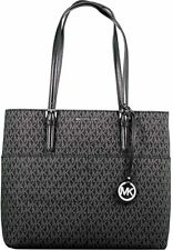 Michael Kors Women's Large Bedford Pocket Shoulder Bag Tote, Silver Tone. New
