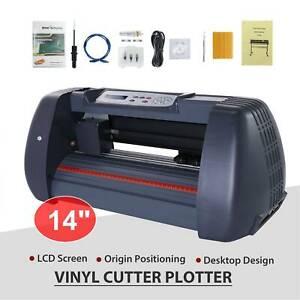 """14"""" Vinyl Cutter Sign Plotter Sign Maker Cutting Pape Printer w/ 3 Blades"""