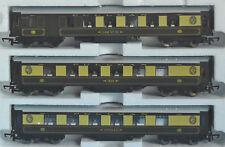 3x HORNBY PULLMAN COACHES from TORNADO PULLMAN TRAIN SET R1169 CHOCOLATE & CREAM