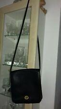 Vintage Black Coach Leather Flap Turnlock Crossbody Shoulder Bag - VGC