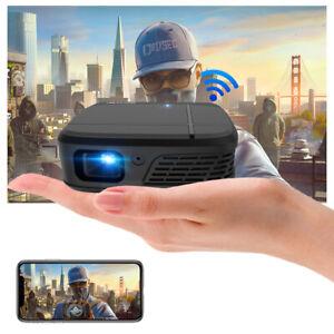 Tragbarer 3D Projektor HD DLP 1080P WIFI Mini Heimkino Beamer Präsentation Film