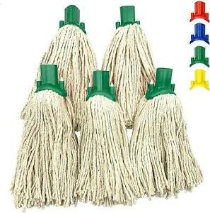 5x Cotton Mop Heads Replacement Floor Multi Fit Heavy Duty Cleaning Kitchen Home
