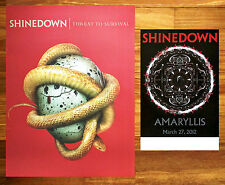 SHINEDOWN Threat To Survival & Amaryllis Ltd Ed HUGE RARE New Litho Posters Lot!