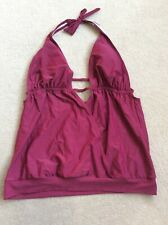 Ladies Size 2XL Burgundy Non Wired Padded Unbranded Halterneck Tankini Top