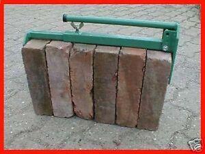 1 Paar Klinkerträger Steingreifer Steinzange