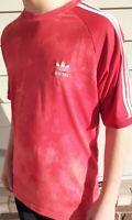 MEN'S adidas Originals Pharrell Williams HU Holi Tie Dye Red T Shirt in Small