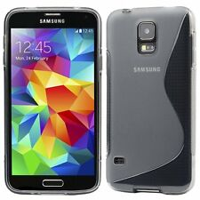Clear SLine Silicone Gel Protective Case Cover for the Samsung Galaxy S5, SP Inc