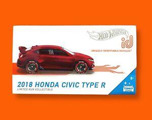 HOT WHEELS ID 2018 HONDA CIVIC TYPE R - 2021 CASE B