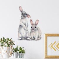 For Living Room Bedroom Rabbit Art Decal Wall Sticker Home Decor Mural