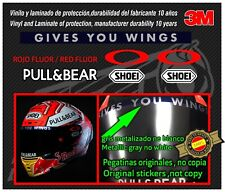 Visor Decal-stickers-pegatinas- ORIGINAL  for Marc Marquez Helmet NEW 2018-2019