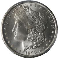 1899-O Morgan Silver Dollar PCGS MS65 Blazing White Gem Nice Strike STOCK