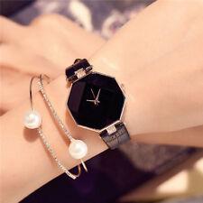 New Analog Diamond Quartz Fashion Leather Band Wrist Watch Ladies Women's AU