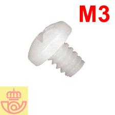 (lote 10pcs) Tornillo nylon M3 5mm cabeza Philips (Arduino, prototipos, PCB)