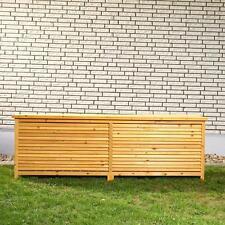 Baule cassapanca box in Legno per esterno giardino XXL 170x50x58cm