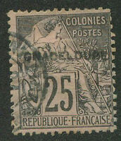FRANCE GUADELOUPE Yvert # 21 a B Used VF
