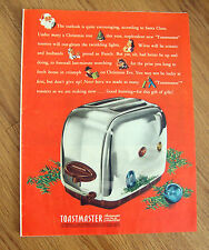 1946 Toastmaster Pop-Up Toasters Ad   Christmas Theme