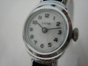 NOS NEW VINTAGE RARE MECHANICAL HAND-WINDING WOMEN'S ELECTRA ANALOG WATCH 1960'S