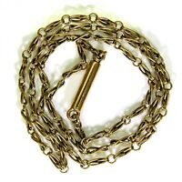 Victorian Infinity Link Barrel Clasp 15ct Yellow Gold Chain Necklace