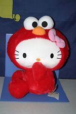 "SANRIO Hello Kitty × Sesami Street ELMO Big Plush Doll JPN ONLY 14"""