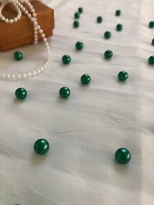 Emerald Green Table Pearls for wedding, Table Scatters, vase filler pearl