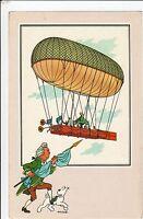 CHROMO Voir et Savoir L'Aérostation série 4 n°7. Ballon dirigeable Robert.  Neuf