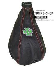 """Per ALFA ROMEO GT 2003-2010 gear gaiter leather """"Trifoglio"""" RICAMO"""