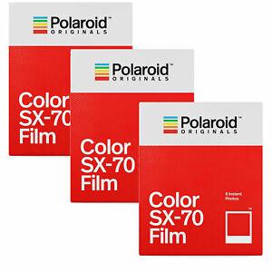 Polaroid Originals SX70 Impossible Color Film TRIPLE Pack (24 Shots)