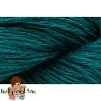 Flax Lace Fibra Natura Yarn BLUE SPRUCE Pure Linen Vegan #1 Weight 547yd 100g