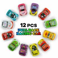 6-12pcs Mini Pull Back Cars Speed Racer Truck Let go Diecast Vehicles Model toys