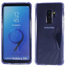 Samsung Galaxy S9 Plus Bumper Case Silikon transparent lila Cover Schutz Tasche